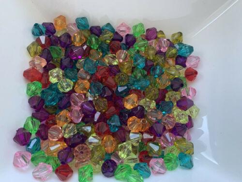 200 unidades de 8 mm acrílico doppelkegel Mix bicone joyas bricolaje decorativas dispersión g4