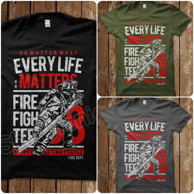 Accurato T-shirt Fire Fighter Pompiere Nyfd Rescue Memorial New York Uomo S M L Xl Quell Summer Thirst