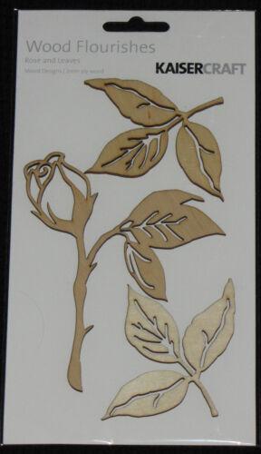 Kaisercraft Wooden Flourishes /'FLOWERS /& TREES/' *NEW* KAISER You choose