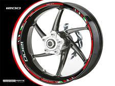 Felgenrandaufkleber f. Ducati Diavel rot-weiß-silber von Perfect Parts alle Bj.