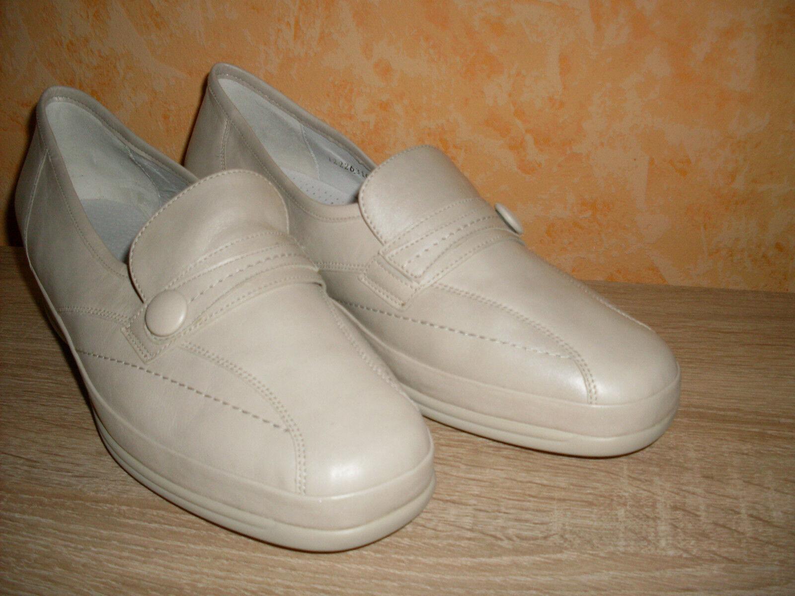 Zapatos casuales salvajes Descuento por tiempo limitado Damenschuh Waldläufer Slipper NEU Gr. 42,5  8,5 Weite K in beige & Nappa Leder