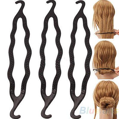 On Sale 5pcs Hair Twist Styling Clip Stick Bun Maker Braid Tool Hairwrap Black