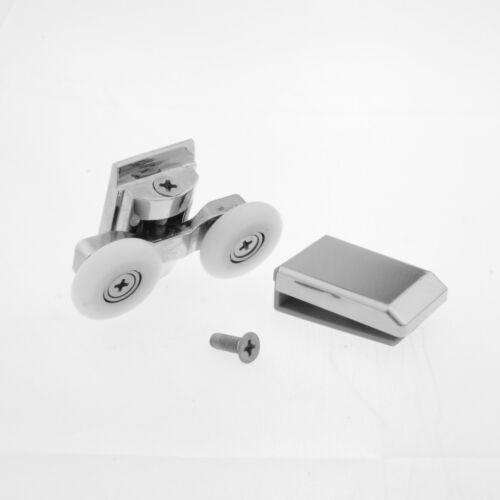 6mm L067 Set of 4 Twin Zinc Alloy Shower Door Rollers//Runners//Wheels 25mm dia