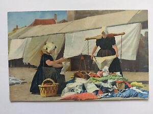 Dutch-Washer-Women-Colour-Vintage-colour-Postcard-c1910-UK-posted