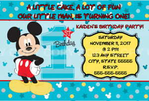 Disney mickey mouse fun to be one 1st birthday invitation 8 pk disney mickey mouse fun to be one 1st birthday invitation 8 pk personalized ebay filmwisefo