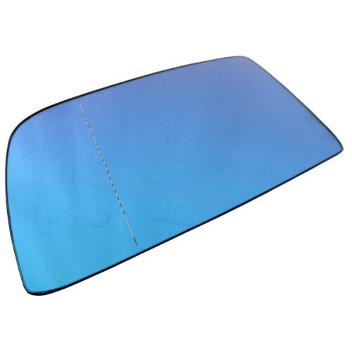 BMW 5er E60 E61 03-09 Spiegelglas Ersatzglas Blau Beheizbar Asphärisch Links