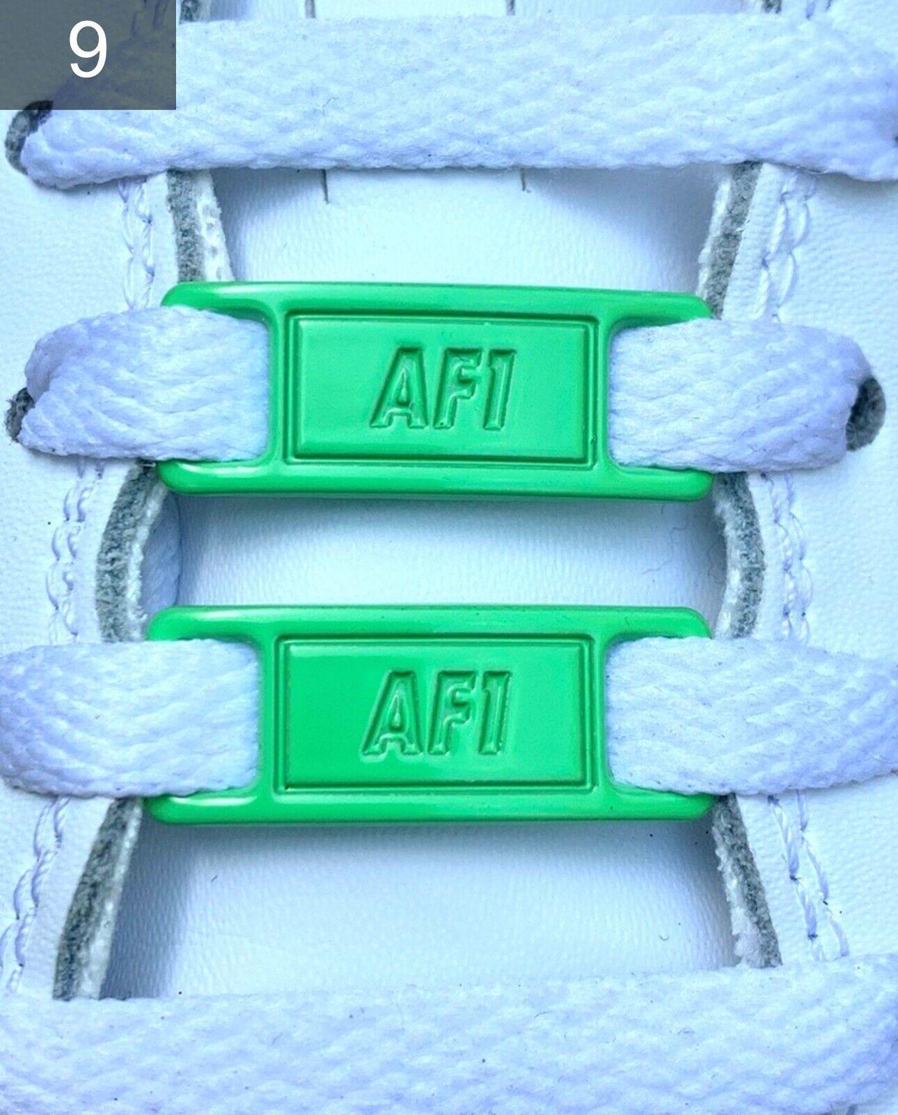 ❤ nuevas nike Air Force 1 hebillas accesorios Lace Locks Buckles verde 2 unid. ✅