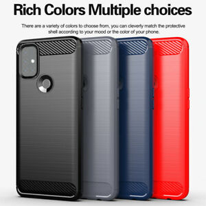 For OnePlus Nord N100 N10 8T 8 Pro Shockproof Fiber Carbon Soft TPU Case Cover