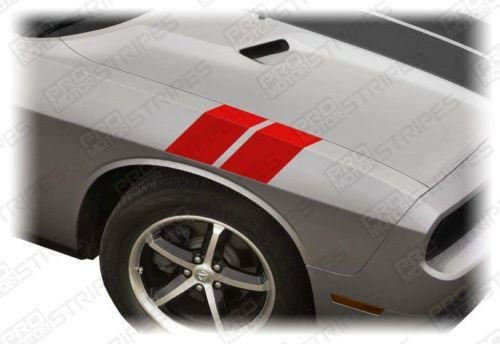 Choose Color Dodge Challenger 2008-2019 Le Mans Fender Hash Stripes Decals