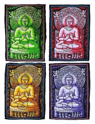BUDDHA Stoffbild, Wandbehang, Stofftuch, Batik - GOA, Indien 75 x 105 cm, Budda