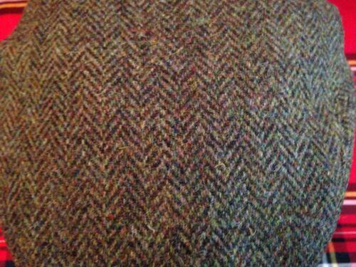 Herren dunkelgrün Fischgrätenmuster Harris Tweed Schiebermütze fahren Hut von