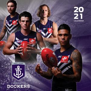 2021-Fremantle-Dockers-12-Months-Wall-Calendar-Official-AFL-Paper-Pocket