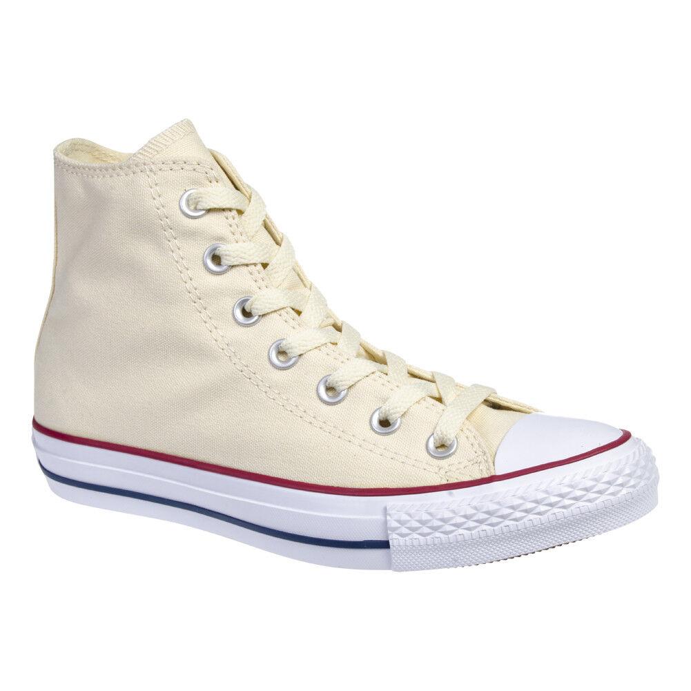 Converse All Star HI In Tela Uomo Donna Scarpe Alte Scarpa Bianco Panna M9162C Scarpe classiche da uomo