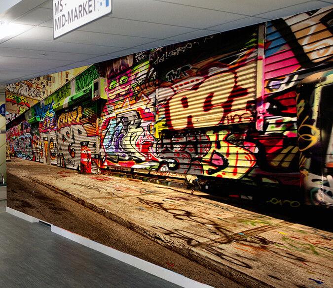 3D Graffiti-Tür 94 Tapete Wandgemälde Tapete Tapeten Bild Familie DE   Bekannt für seine schöne Qualität    Rabatt    Outlet