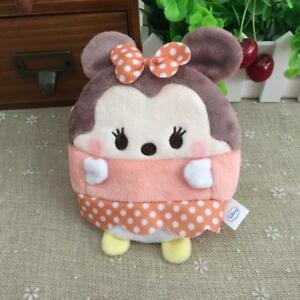 Disney-TSUM-tsum-minnie-mouse-Plush-coin-bag-money-card-handbag-oranment-zip-new