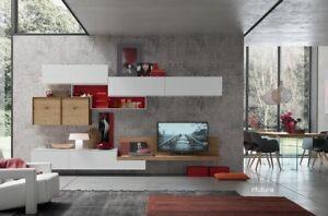 mobile soggiorno sospeso moderno af seta 1552 parete tv