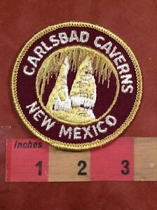 Vtg CARLSBAD CAVERNS New Mexico Patch - Cave Tourist Attraction 83E