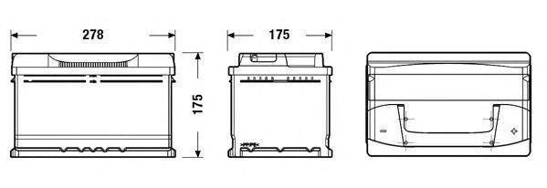Batteria auto EXIDE EB712 12V 71AH 670EN