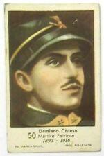 Figurina Anni 1930 Damiano Chiesa Marca Gallo Cartonata cm 7 x 4,5