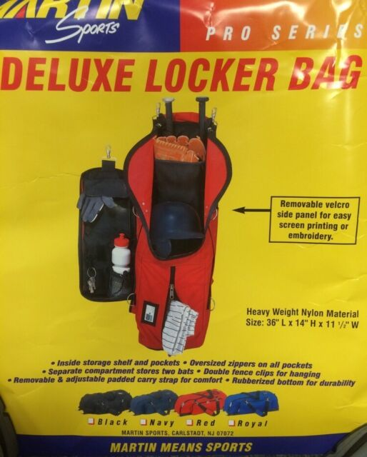 1a4ba7584227 Martin Sports Deluxe Locker Bag Red