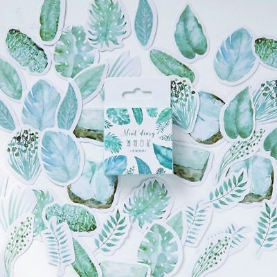 45X Plant Leaves Mini Sticker Scrapbooking DIY Paper label Journal Supplies