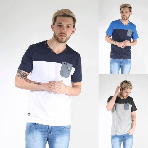 Giacca SMANICATA DA UOMO IMBOTTITA RAWCRAFT spalla contrasto tasca sul petto collo a V Manica ad Aletta T Shirt