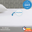 """Waterproof Terry Towel Mattress Protector Extra Deep Fitted Sheet 12/"""" Single"""