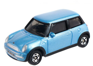 tomica car toy car model car mini cooper light blue collectables diecast