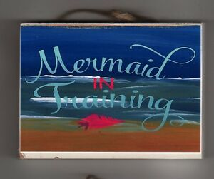 Image Is Loading Wall Decor Mermaid Sign Saying Funny