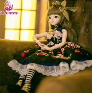 1 3 BJD Girl Doll Handmade Dress Up With Clothes Shoes Wig SD Doll ... a19072f0812d