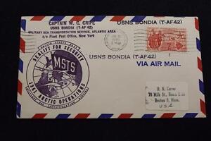 Naval-Cubierta-1961-Maquina-Cancelado-Artico-Operations-Usns-Bondia-T-AF-42