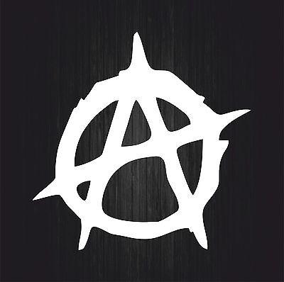aufkleber sticker auto motorrad macbook laptop anarchistische symbolik weiß r24
