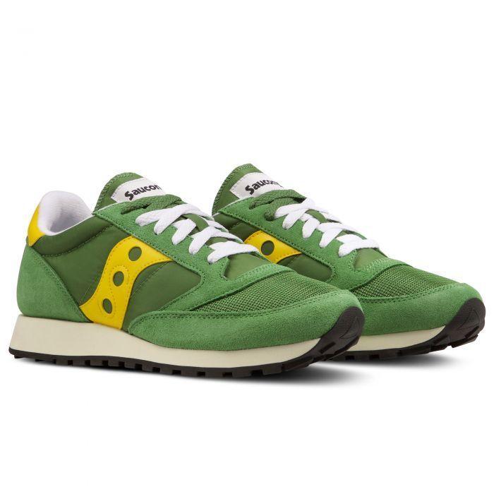 zapatos Saucony Jazz Original Vintage hombres - verde amarillo 817 - 7036