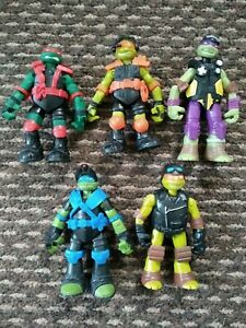 Teenage-Mutant-Ninja-Turtles-Bundle-JOB-LOT-Figure-Playmates-2014-VIACOM-TMNT