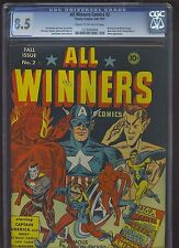ALL WINNERS COMICS #2 CGC VF+: 8.5 CM-OW; (Fall 1941) Simon & Kirby art!