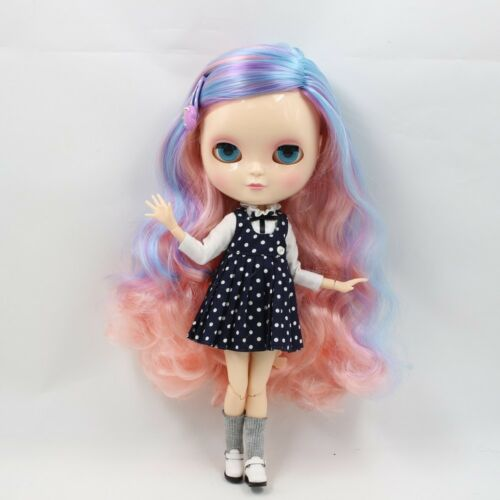 ICY Doll F/&D Joint Body Long Colorful Hair 12 30cm eyes 4 Colors Change Nude