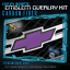 Chevy Bowtie Emblem Overlay Sheets Front Back Vinyl Decal Wrap Carbon Fiber 2
