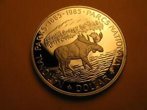 Canada-Rare-1985-Silver-Dollar-Gem-Proof-Beauty-IDJ318
