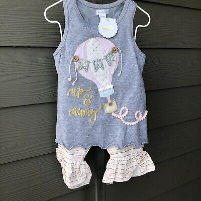 GOLDEN GIRL Baby Girls Cotton Frock And Printed Capri Set