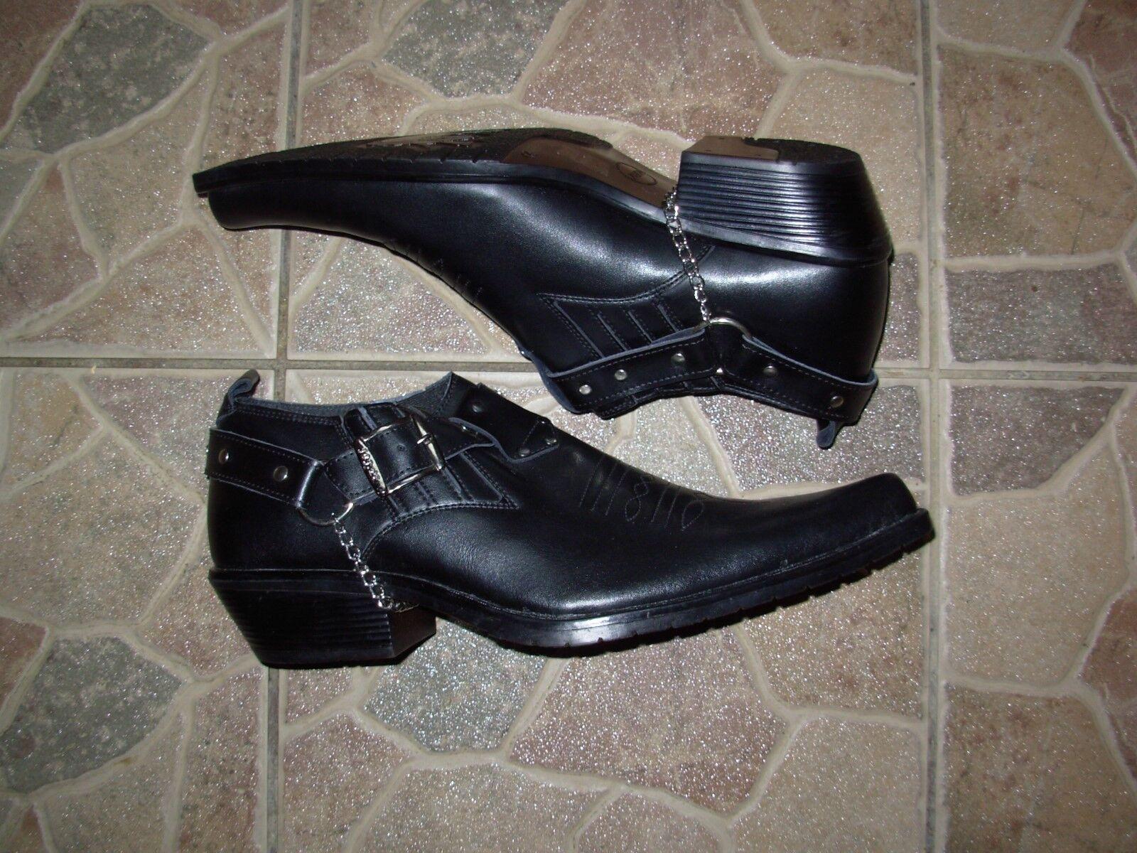 Joj le Cowboy western  schwarz schuhe  Leather siz 44 New
