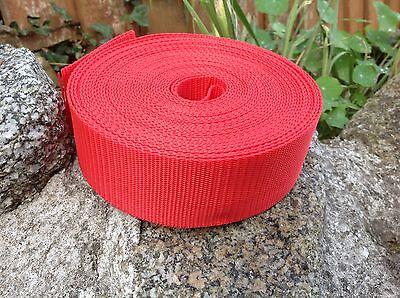 Red 50mm 2 Inch Nylon Webbing x 10 Meters