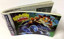 Game Boy Advance GBA LIBRETTO ISTRUZIONI INSTRUCTION BOOKLET CRASH OF THE TITANS