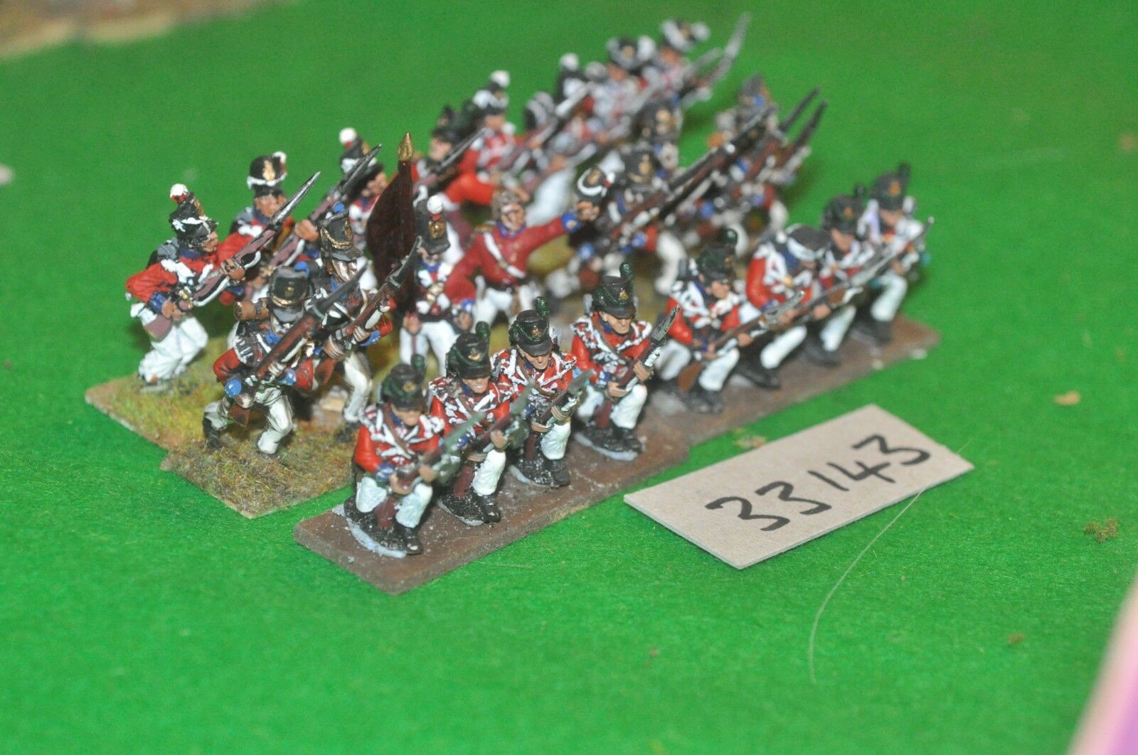 25mm napoleonic   british - regt 24 figures - inf (33143)