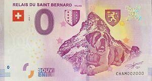 BILLET-0-EURO-RELAIS-DU-SAINT-BERNARD-SUISSE-2018-NUMERO-2000