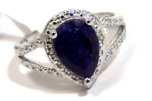 Genuine-Sapphire-Ring-with-Diamonds-Sterling-Silver-3-carats
