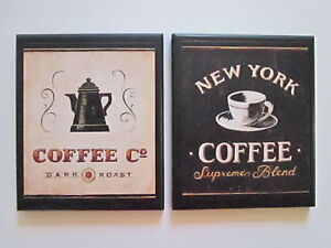 coffee wall decor signs country kitchen pictures new york black rh ebay com