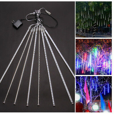 50CM LED Meteor Shower Falling Star Rain Drop Icicle Snow Fall Xmas Fairy Light