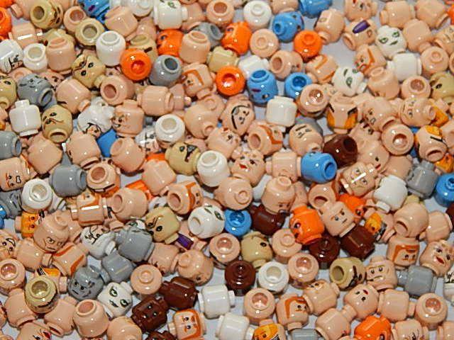 Lego Star Star Star Wars Lot Of 50 Minifigure Heads Random Bulk Lot 4d43d5