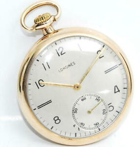 LONGINES Small Seconds Vintage Pocket Watch Manual Winding 17Jewels 43mm