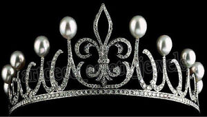 Jewelry & Watches Persevering 12.50cts Rose Cut Diamond Pearl Antique Victorian Look 925 Silver Hair Tiara Colours Are Striking